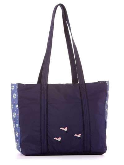 Молодежная сумка, модель 183862 синий. Фото товара, вид сбоку.