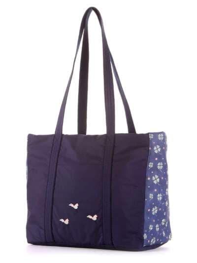 Молодежная сумка, модель 183862 синий. Фото товара, вид сзади.