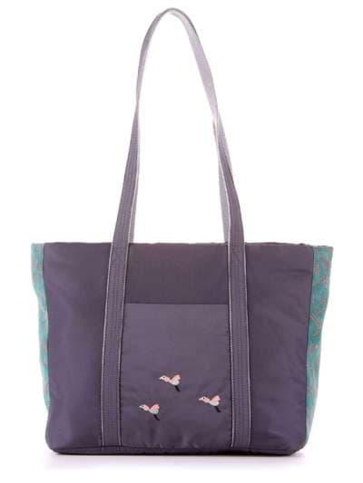 Молодежная сумка, модель 183863 серо-зеленый. Фото товара, вид сбоку.