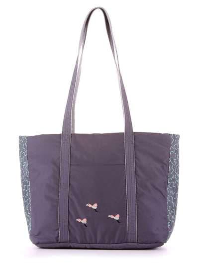 Модная сумка, модель 183864 серый. Фото товара, вид сбоку.