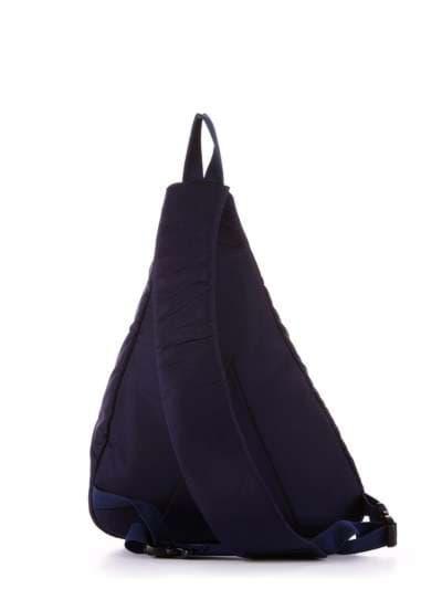 Женский моно рюкзак, модель 183822 синий/красная полоса. Фото товара, вид дополнительный.