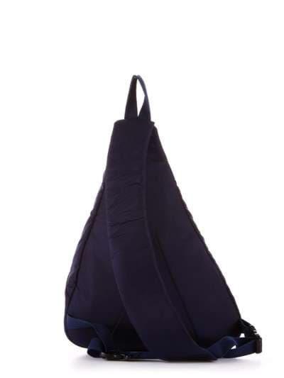 Стильный моно рюкзак, модель 183823 синий/зелёная полоса. Фото товара, вид дополнительный.