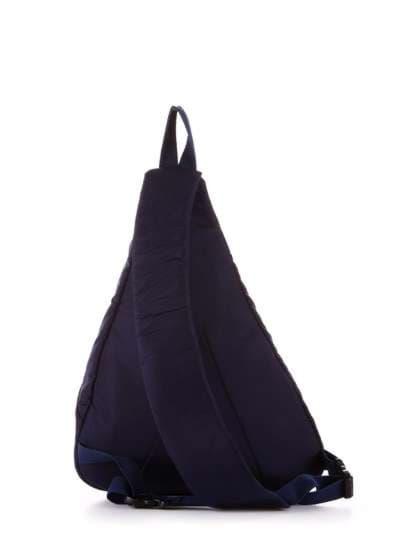 Молодежный моно рюкзак, модель 183824 синий/белый горох. Фото товара, вид дополнительный.