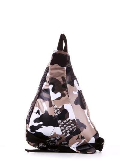 Модный моно рюкзак, модель 183826 милитари/черный. Фото товара, вид дополнительный.