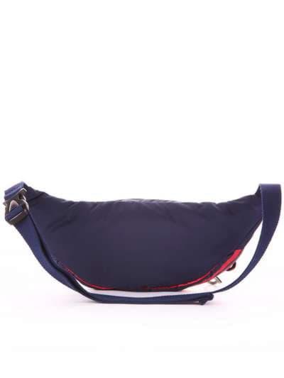 Стильная сумка на пояс, модель 183872 синий/красная полоса. Фото товара, вид дополнительный.
