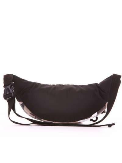 Стильная сумка на пояс, модель 183876 милитари/черный. Фото товара, вид дополнительный.