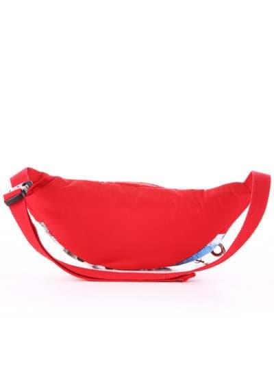 Стильная сумка на пояс, модель 183877 веселые пушистики/красный. Фото товара, вид дополнительный.