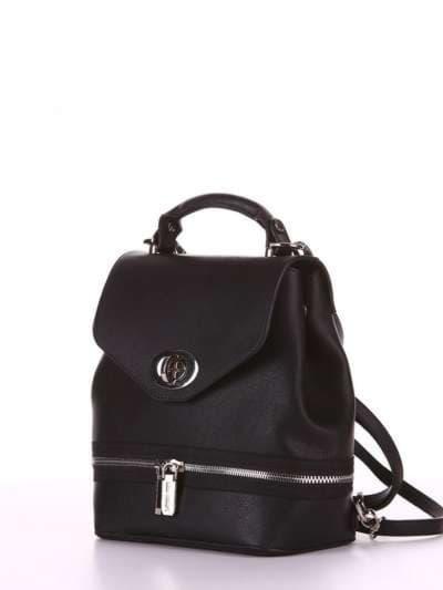 Модный мини-рюкзак, модель 180311 черный. Фото товара, вид сбоку.