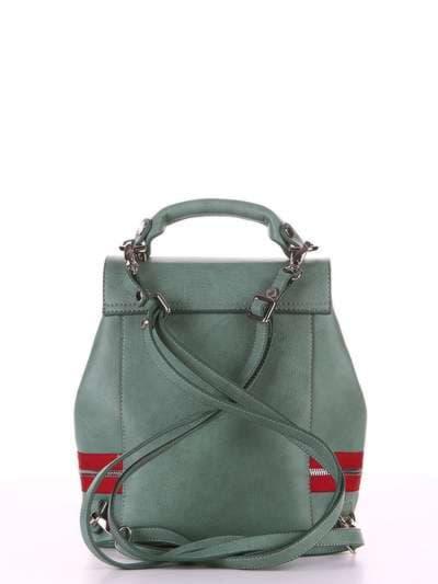Брендовый мини-рюкзак, модель 180312 зеленый. Фото товара, вид сзади.