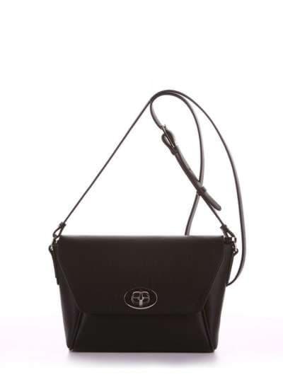 Модная сумка маленькая, модель 180321 черный. Фото товара, вид спереди.