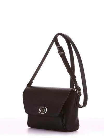 Модная сумка маленькая, модель 180321 черный. Фото товара, вид сбоку.