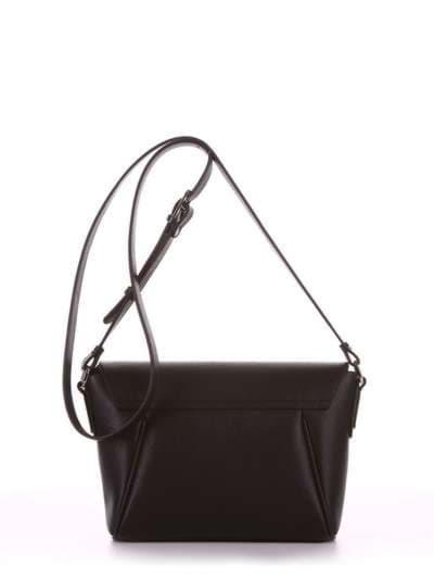 Модная сумка маленькая, модель 180321 черный. Фото товара, вид сзади.