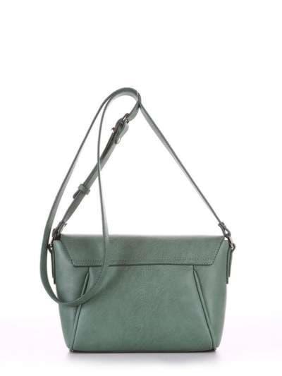 Молодежная сумка маленькая, модель 180322 зеленый. Фото товара, вид сзади.