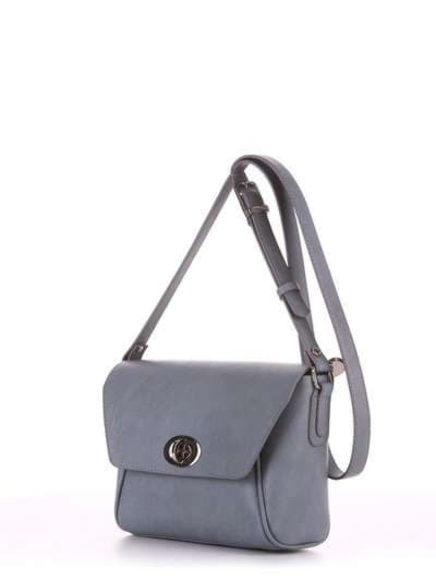 Брендовая сумка маленькая, модель 180323 серый. Фото товара, вид сбоку.