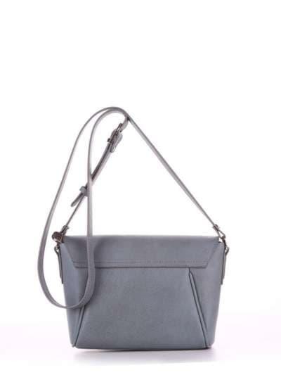 Брендовая сумка маленькая, модель 180323 серый. Фото товара, вид сзади.