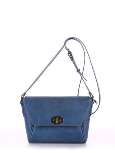 Модная сумка маленькая, модель 180324 синий. Фото товара, вид спереди.