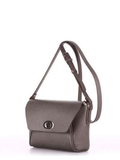 Модная сумка маленькая, модель 180325 серый. Фото товара, вид сбоку.