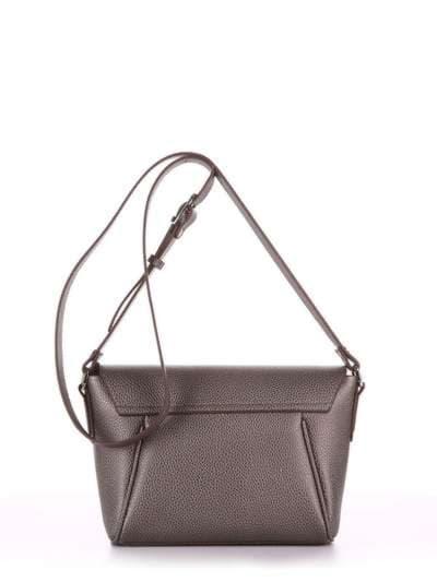 Модная сумка маленькая, модель 180325 серый. Фото товара, вид сзади.