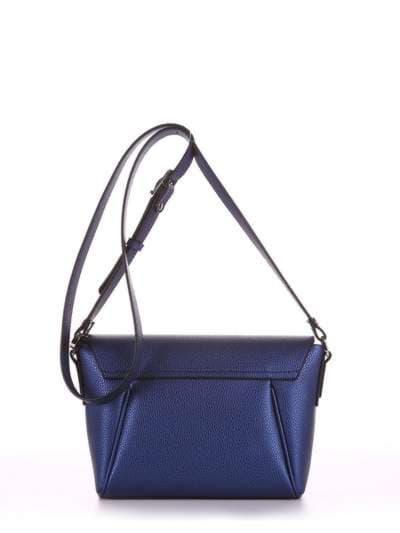 Стильная сумка маленькая, модель 180326 синий. Фото товара, вид сзади.
