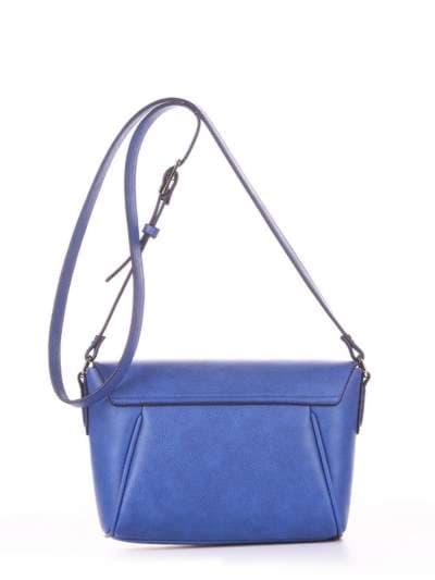 Молодежная сумка маленькая, модель 180328 синий-электрик. Фото товара, вид дополнительный.