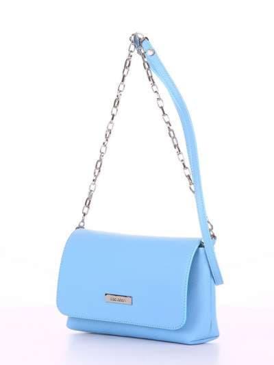 Модный клатч, модель 180301 голубой. Фото товара, вид сбоку.