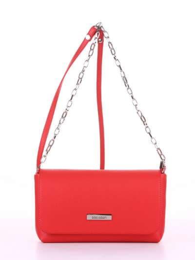 Брендовый клатч, модель 180302 красный. Фото товара, вид спереди.