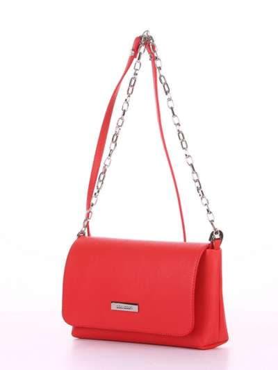 Брендовый клатч, модель 180302 красный. Фото товара, вид сбоку.