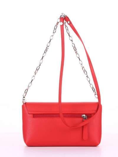 Брендовый клатч, модель 180302 красный. Фото товара, вид сзади.