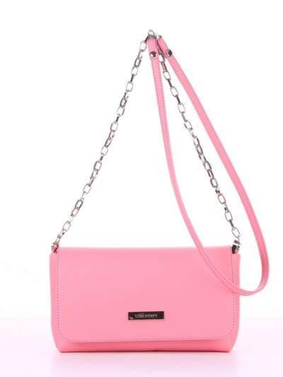 Модный клатч, модель 180304 розовый. Фото товара, вид спереди.