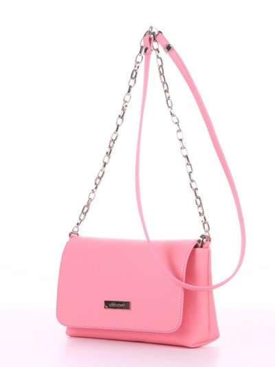 Модный клатч, модель 180304 розовый. Фото товара, вид сбоку.