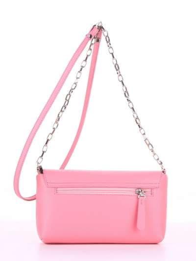Модный клатч, модель 180304 розовый. Фото товара, вид сзади.