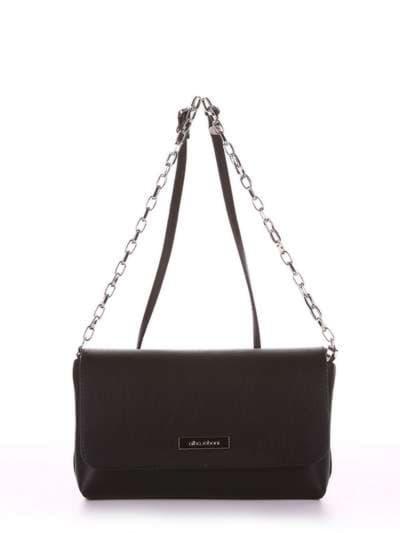 Модный клатч, модель 180331 черный. Фото товара, вид спереди.