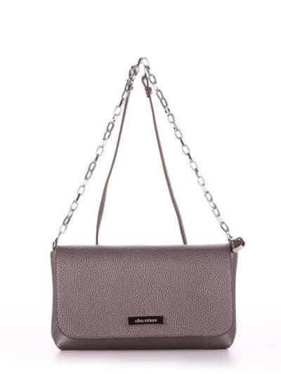 Стильный клатч, модель 180335 серый. Фото товара, вид спереди._product-ru