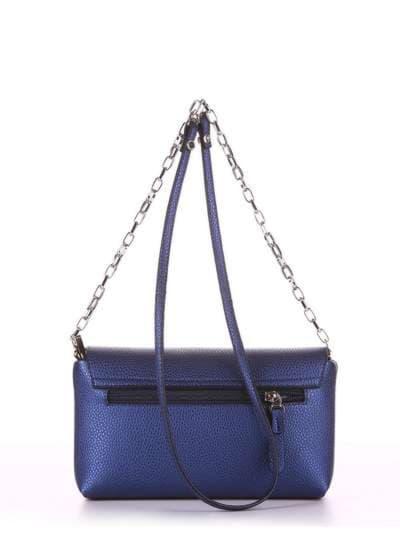 Молодежный клатч, модель 180336 синий. Фото товара, вид сзади.