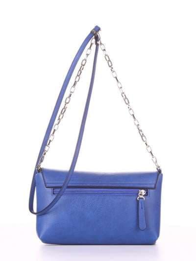 Молодежный клатч, модель 180338 синий-электрик. Фото товара, вид дополнительный.
