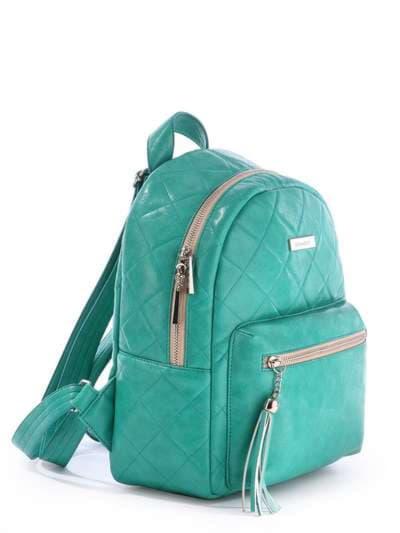 Женский рюкзак, модель 171533 зеленый. Фото товара, вид сбоку.