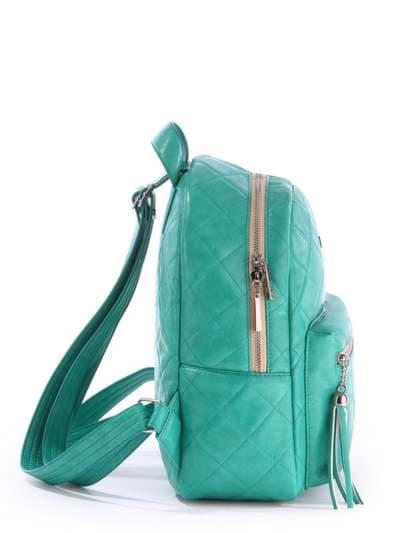 Женский рюкзак, модель 171533 зеленый. Фото товара, вид сзади.