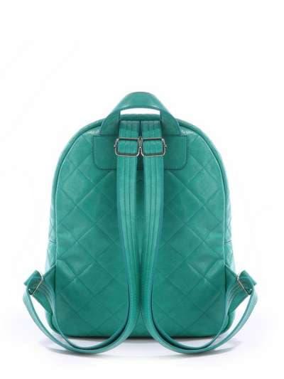 Женский рюкзак, модель 171533 зеленый. Фото товара, вид дополнительный.