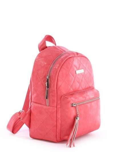 Брендовый рюкзак, модель 171534 коралловый. Фото товара, вид сбоку.