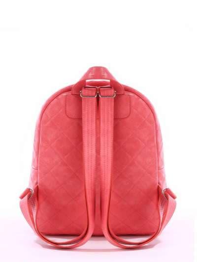 Брендовый рюкзак, модель 171534 коралловый. Фото товара, вид дополнительный.