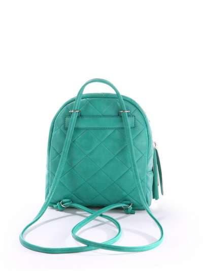 Женский мини-рюкзак, модель 171543 зеленый. Фото товара, вид дополнительный.