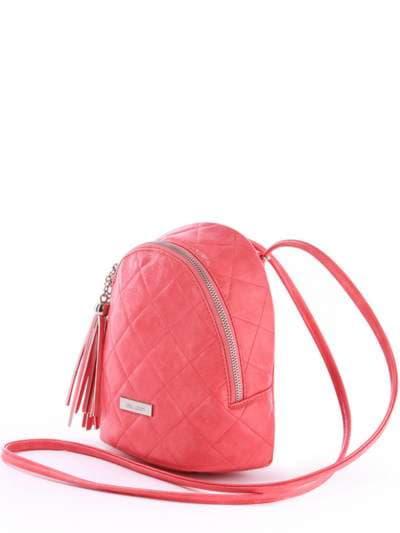 Женский мини-рюкзак, модель 171544 коралловый. Фото товара, вид сзади.