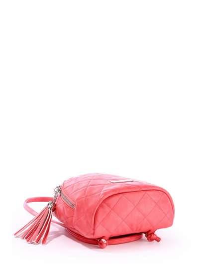 Женский мини-рюкзак, модель 171544 коралловый. Фото товара, вид дополнительный.