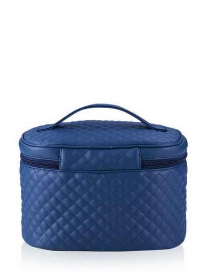 Стильна косметичка, модель 321 синій. Фото товару, вид ззаду.