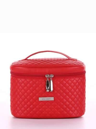 Стильная косметичка, модель 324 красный. Фото товара, вид спереди.