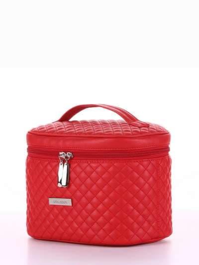 Стильная косметичка, модель 324 красный. Фото товара, вид сбоку.