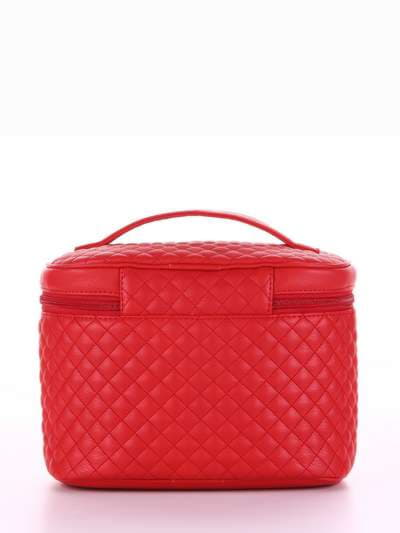 Стильная косметичка, модель 324 красный. Фото товара, вид сзади.