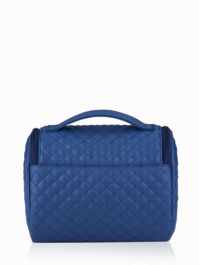 Стильная косметичка, модель 331 синий. Фото товара, вид сзади.