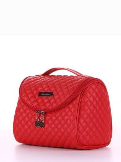 Стильная косметичка, модель 334 красный. Фото товара, вид сбоку.