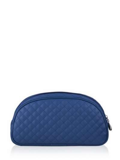 Молодежная косметичка, модель 341 синий. Фото товара, вид сзади.